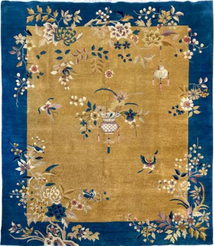 Antique Chinese Art Deco Carpet 3.15m x 2.71m (1 of 13)