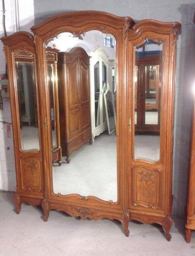 Large Oak French Triple Armoire (1 of 12)