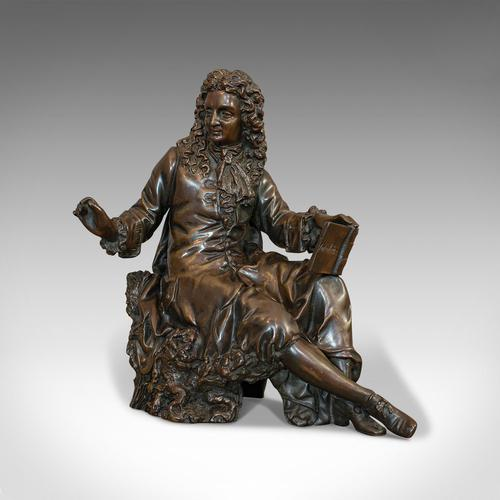 Antique Fontaine Figure, French, Bronze, Statue, after Ernest Rancoulet c.1920 (1 of 12)