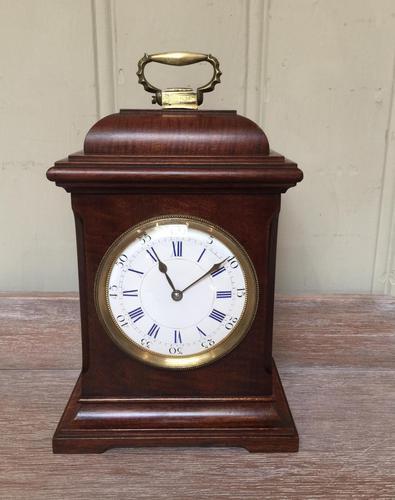 Small Mahogany 18th Century Style Bracket Clock (1 of 11)