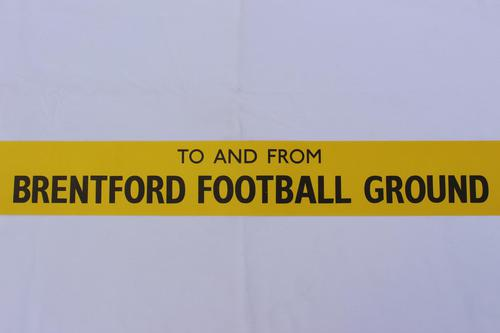 London Transport Slipboard Poster for Brentford Football Club (1 of 1)