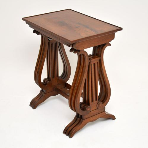 Antique Regency Style Yew Wood Nest of Tables (1 of 8)