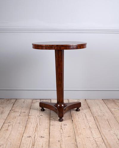 Mahogany Pedestal Lamp Table (1 of 5)