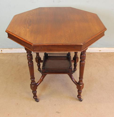 Antique Walnut Shaped Occasional Centre Table (1 of 6)