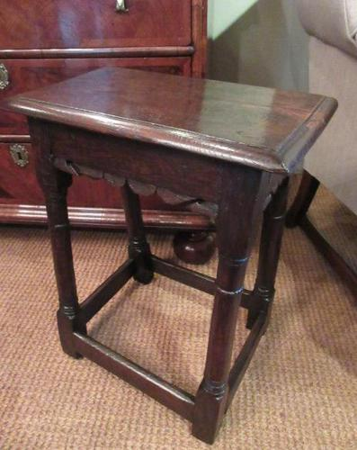 George I Period Antique Oak Joint Stool (1 of 7)