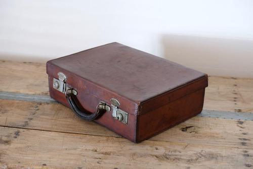Small Vintage Leather Suitcase (1 of 10)