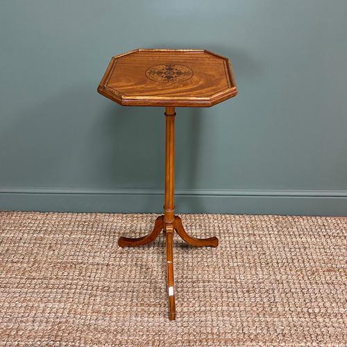 Unusual Victorian Satinwood Jardinière / Side Table (1 of 8)