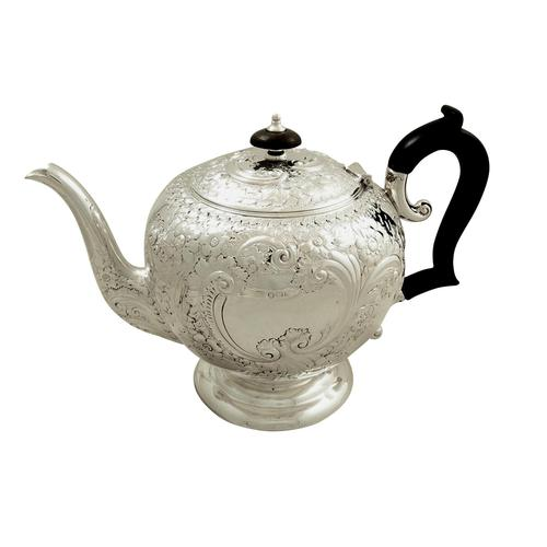 Antique Victorian Sterling Silver Teapot 1896 (1 of 10)