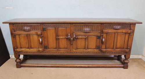 Antique Oak Sideboard Dresser Base Server (1 of 11)