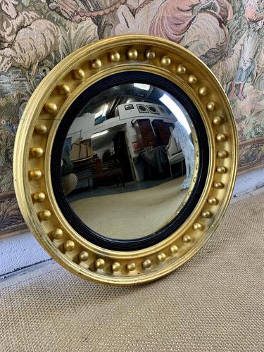 19th C Gilt Convex Mirror (1 of 2)