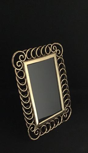 Victorian Brass Ring Easel Photo Frame (1 of 3)