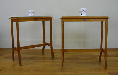 Rare Pair of Oak Medical Side Tables - Chas Thackray and Son c1910 (1 of 15)