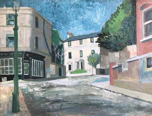Original Oil on Board 'the Well Walk Pottery, Hampstead' by Toby Horne Shepherd 1909-1993 (1 of 3)