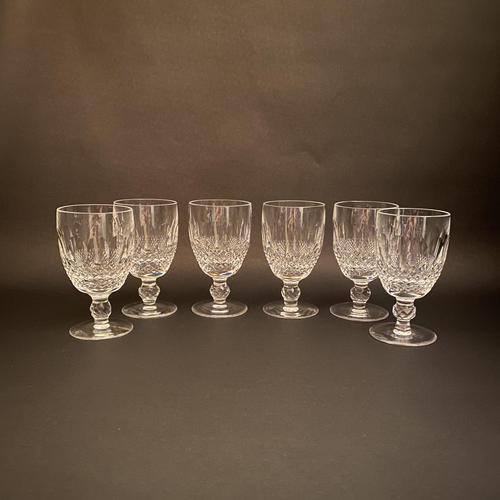 Six Waterford 'Colleen' Claret Glasses (1 of 3)