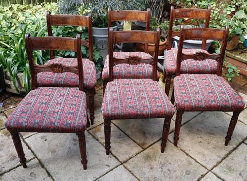 Good Set of Six Late Georgian Mahogany Dining Chairs (1 of 10)
