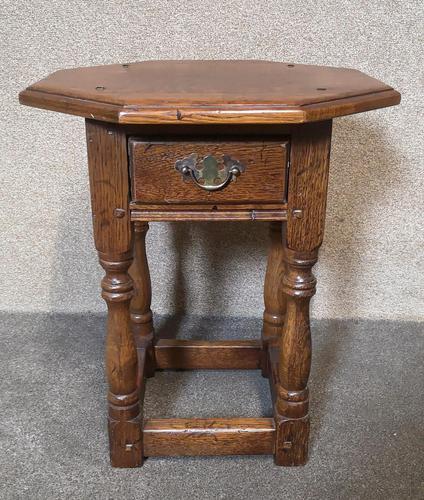 Oak Octagonal Occasional Table - Siesta Furniture (1 of 7)