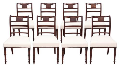 Georgian Quality Set of 8 Mahogany Dining Chairs c.1800 (1 of 8)