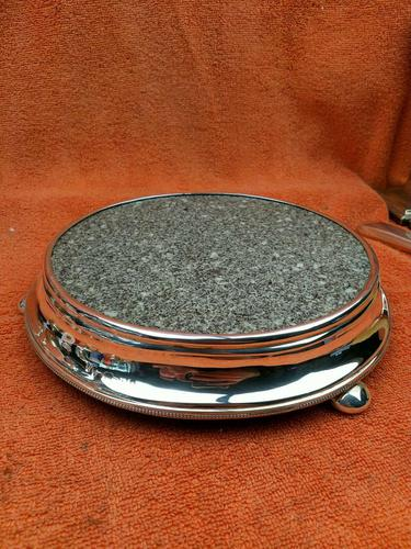 Antique Sterling Silver Hallmarked Pot Stand 1882 (1 of 10)