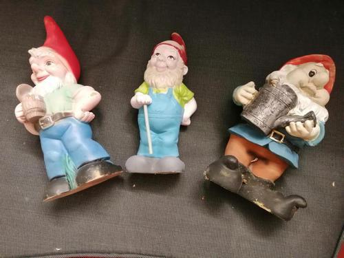 3 x Vintage Garden Gnomes (1 of 10)