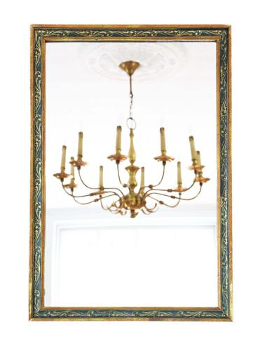 Gilt & Decorated Overmantle or Wall Mirror c.1920 (1 of 4)
