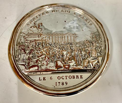 Antique 19th Century French Silver Plated Snuff Box Siege of the Bastille Snuff Box (1 of 6)