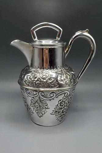 Antique Scottish Silver Plated Claret/Mulled Wine Jug - Patented Filter Lid (1 of 8)