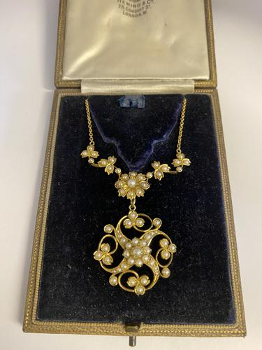 Antique Victorian 15ct Pearl Necklace (1 of 7)