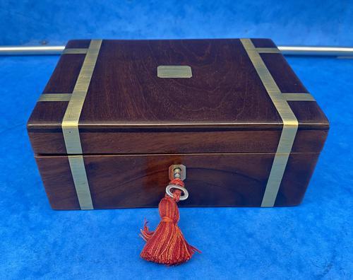 Georgian Solid Mahogany Brassbound Miniature Campaign Box (1 of 9)
