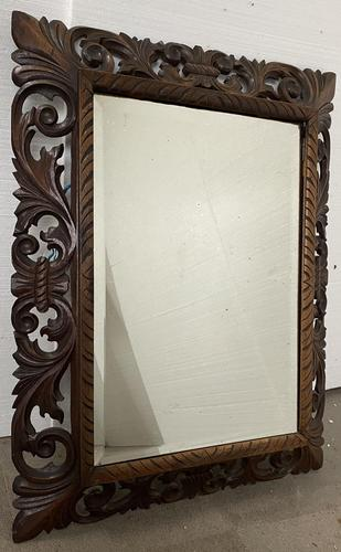 Carved Oak Mirror - Late 19th Century (1 of 6)