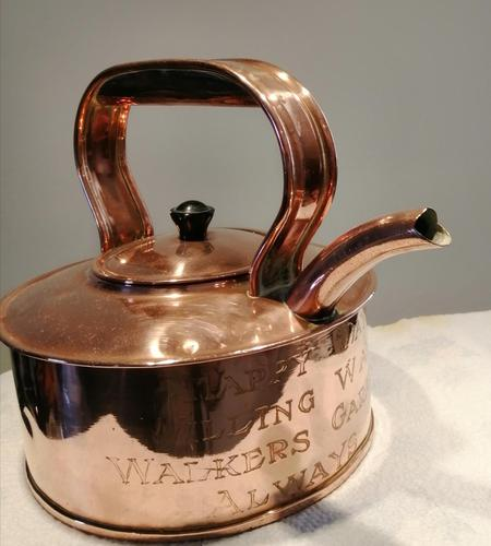 Antique Copper Advertising Kettle (1 of 7)
