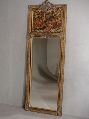 Late 19th Century French Trumeau Mirror (1 of 5)