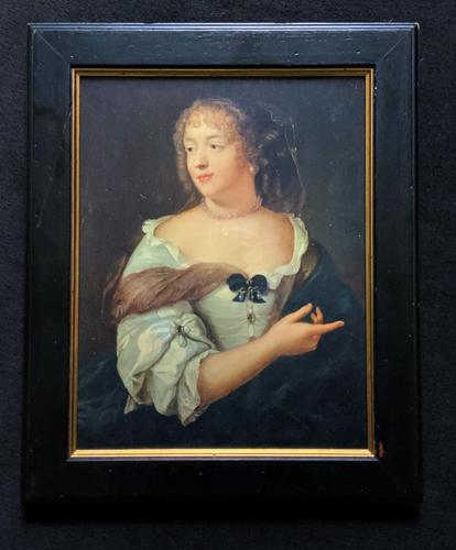 Wonderful 20thc Oil Portrait Painting of Lady In 17th Century Dress (1 of 11)