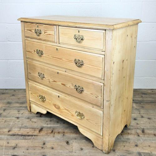 Antique Pine Chest of Drawers (1 of 10)