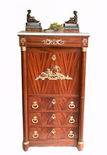 French Empire Cocktail Cabinet Drinks Chest c.1920 (1 of 10)
