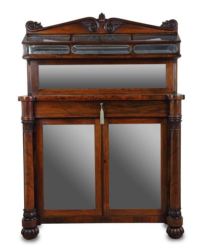 George IV Rosewood Chiffonier Display Cabinet (1 of 8)
