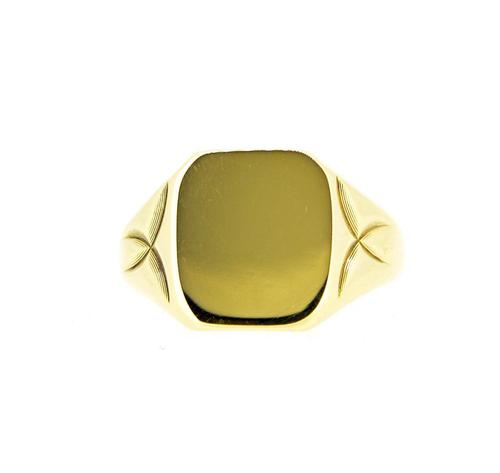 Vintage Gents 9ct Gold Heavy Signet Ring (1 of 8)