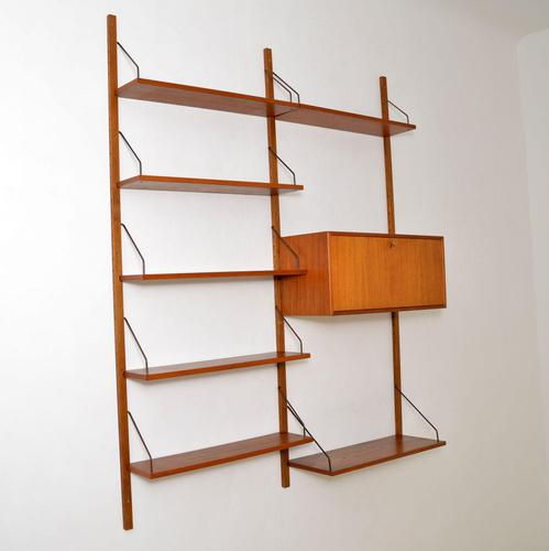 Danish Teak Vintage PS Wall System Bookcase Cabinet (1 of 6)