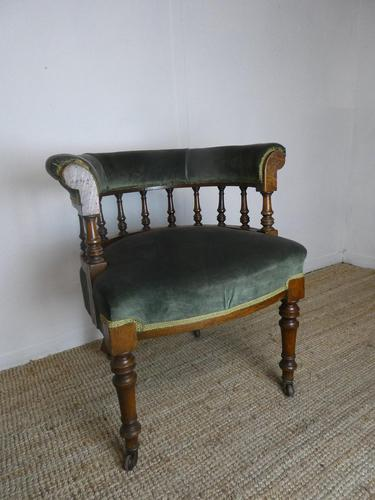 19th Century Oak Desk Chair (1 of 7)