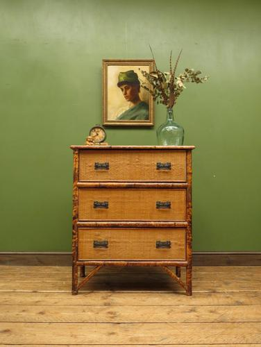 Antique British Colonial Bamboo Chest of Drawers (1 of 16)