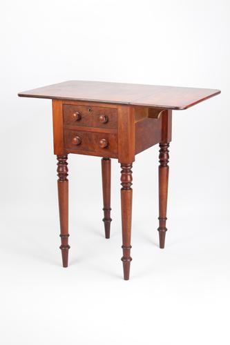 Small Antique Victorian Mahogany Work Table / Bedside Cabinet (1 of 13)