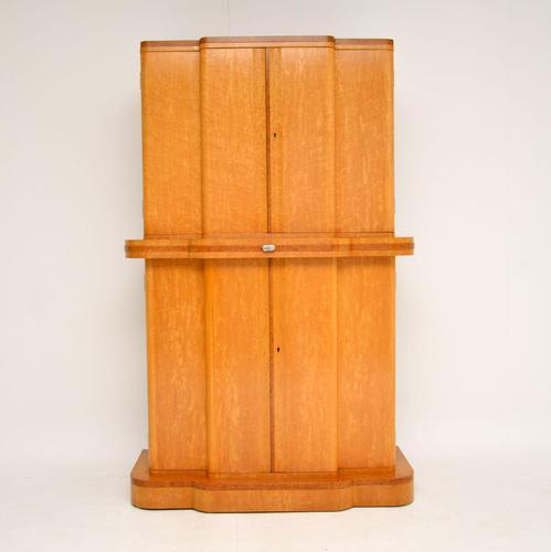 Art Deco 1920's Burr Maple & Walnut Cocktail Cabinet (1 of 13)