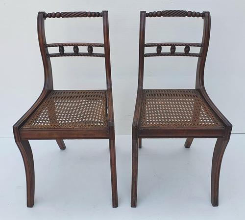 Pair of Early 19th Century Regency Mahogany Chairs (1 of 4)