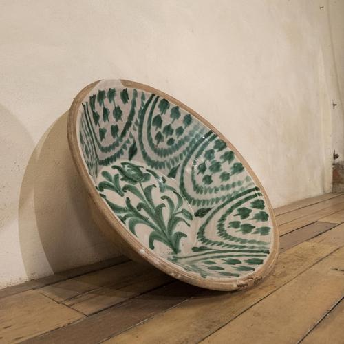 "Large 19th Century Spanish Granada Fajalouza ""Lebrillo"" Bowl (1 of 14)"