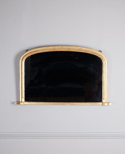Mid 19th century gilt overmantle mirror (1 of 4)