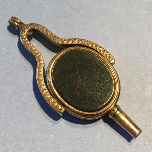 9ct Gold Watch Key / Swivel Fob (1 of 5)