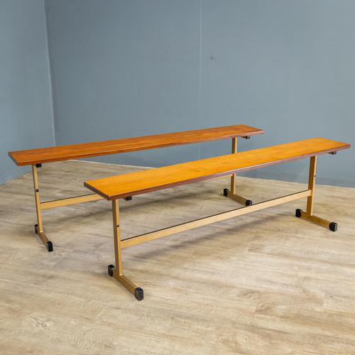 Pair of Teak Benches (1 of 7)