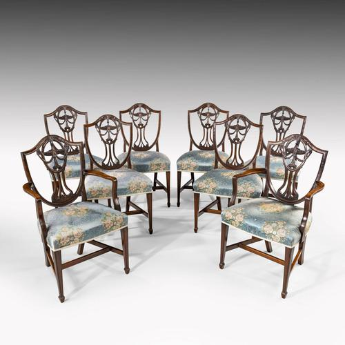 Elegant Set of 8 Early 20th Century Classical Hepplewhite Chairs (1 of 6)