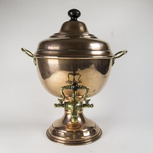 Victorian / Edwardian Copper & Brass Samovar (1 of 7)