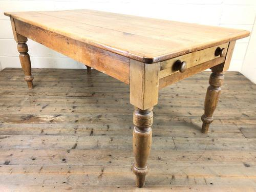 Victorian Antique Pine Farmhouse Kitchen Table (1 of 10)