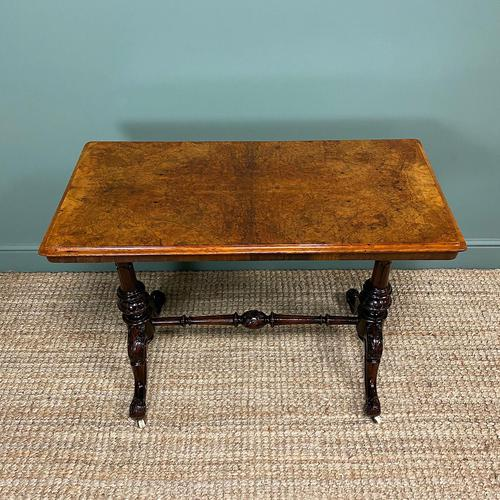 Magnificent Victorian Figured Walnut Antique Centre Table (1 of 7)